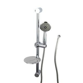 Chrome Sliding Bar with Handheld Shower
