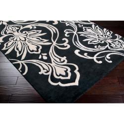 Hand-tufted Tux Damask Pattern Wool Rug (9' x 13') - Thumbnail 1
