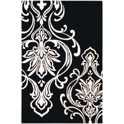 Hand-tufted Tux Damask Pattern Wool Area Rug - 9' x 13' - Thumbnail 0