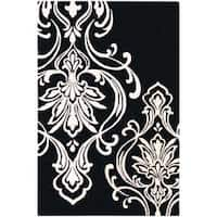 Hand-tufted Tux Damask Pattern Wool Area Rug (9' x 13')