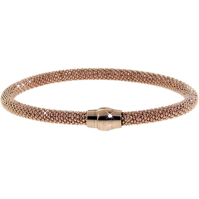 Eternally Haute Rose Gold over Silver Mesh Bracelet