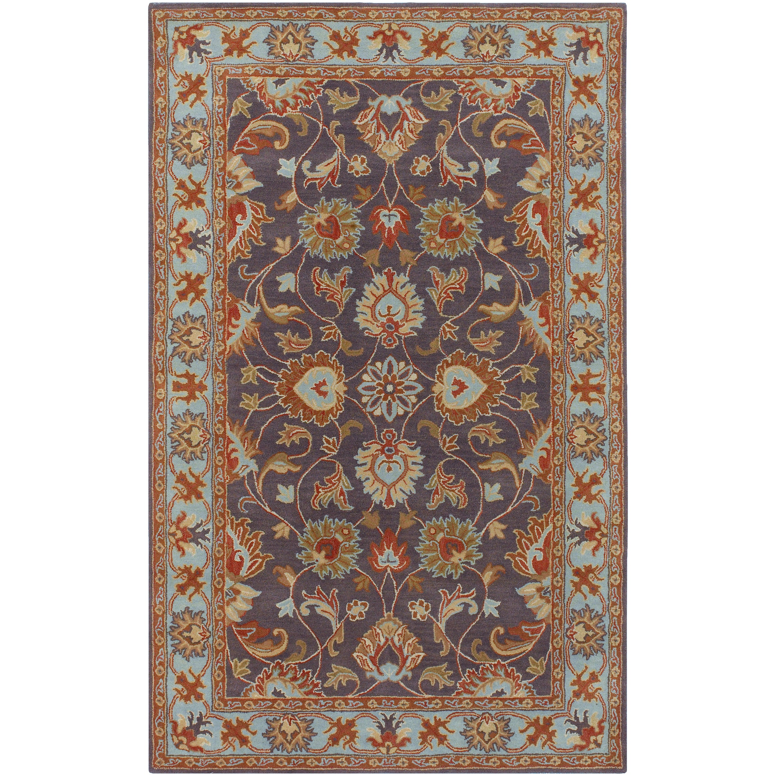 Hand-tufted Akaishi Wool Area Rug (9' x 12')