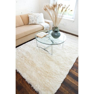 Hand-woven Elburiagan Plush Shag Zealand Wool Rug (5' x 8')