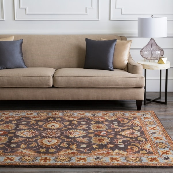 Hand-tufted Akaishi Wool Area Rug - 7'6 x 9'6