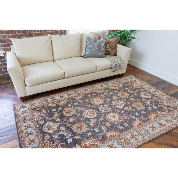 Hand-tufted Akaishi Wool Area Rug (7'6 x 9'6)