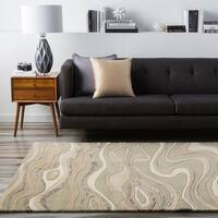 Hand-tufted Zagros Abstract Waves Wool Area Rug - 3'3 x 5'3
