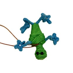 Handmade Yarn Frog Ornament (Colombia)
