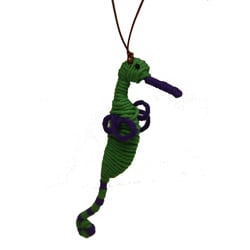 Yarn Sea Horse Ornament (Colombia)