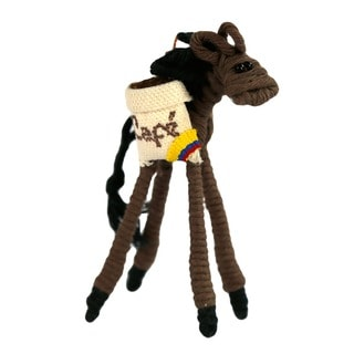 Yarn Coffee Mule Ornament (Colombia)