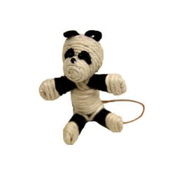 Handmade Yarn Panda Ornament (Colombia)