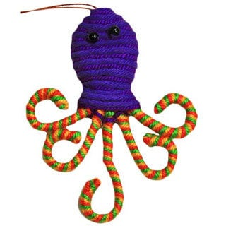 Yarn Octopus Ornament (Colombia)