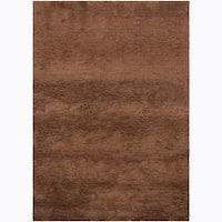 Artist's Loom Hand-woven Wool Shag Rug (5'3x7'7) - 5'3 x 7'7