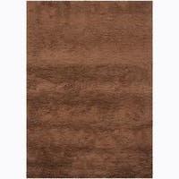 Artist's Loom Hand-woven Wool Shag Rug (3'11x5'7) - 3'11 x 5'7