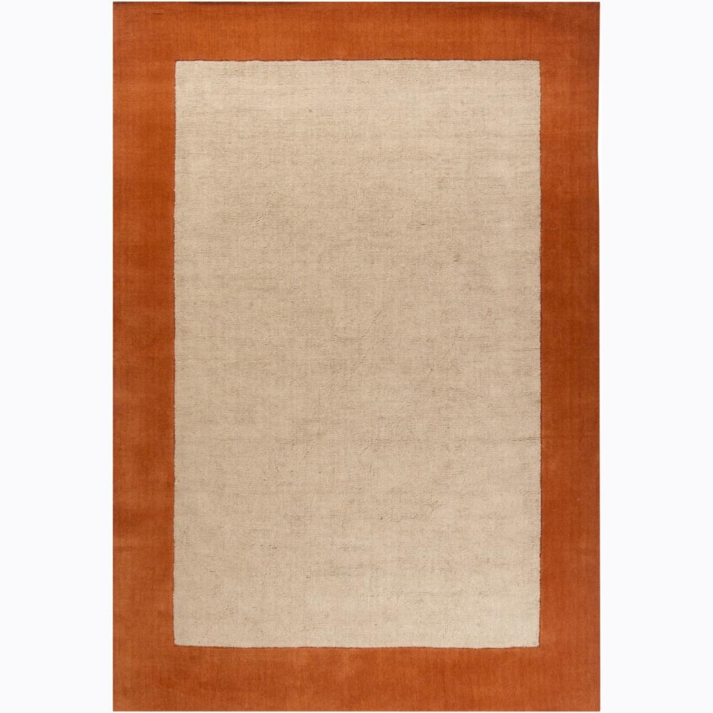 Artist's Loom Hand-woven Casual Border Rug (7'9 x 10'6)