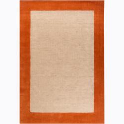 Artist's Loom Hand-woven Casual Border Rug (7'9 x 10'6) - Thumbnail 0