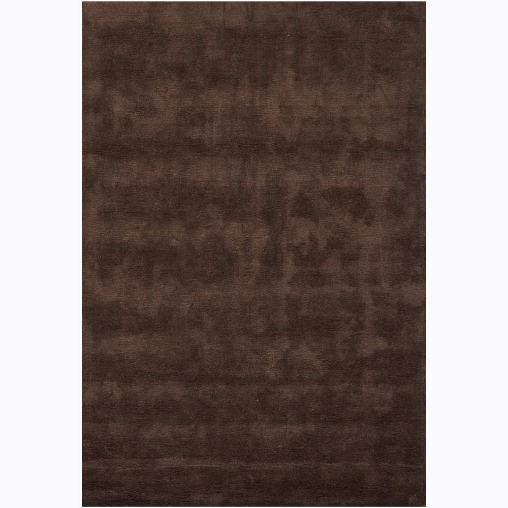 Artist's Loom Hand-tufted Contemporary Solid Rug (5'3 x 7'7) - 5'3 x 7'7