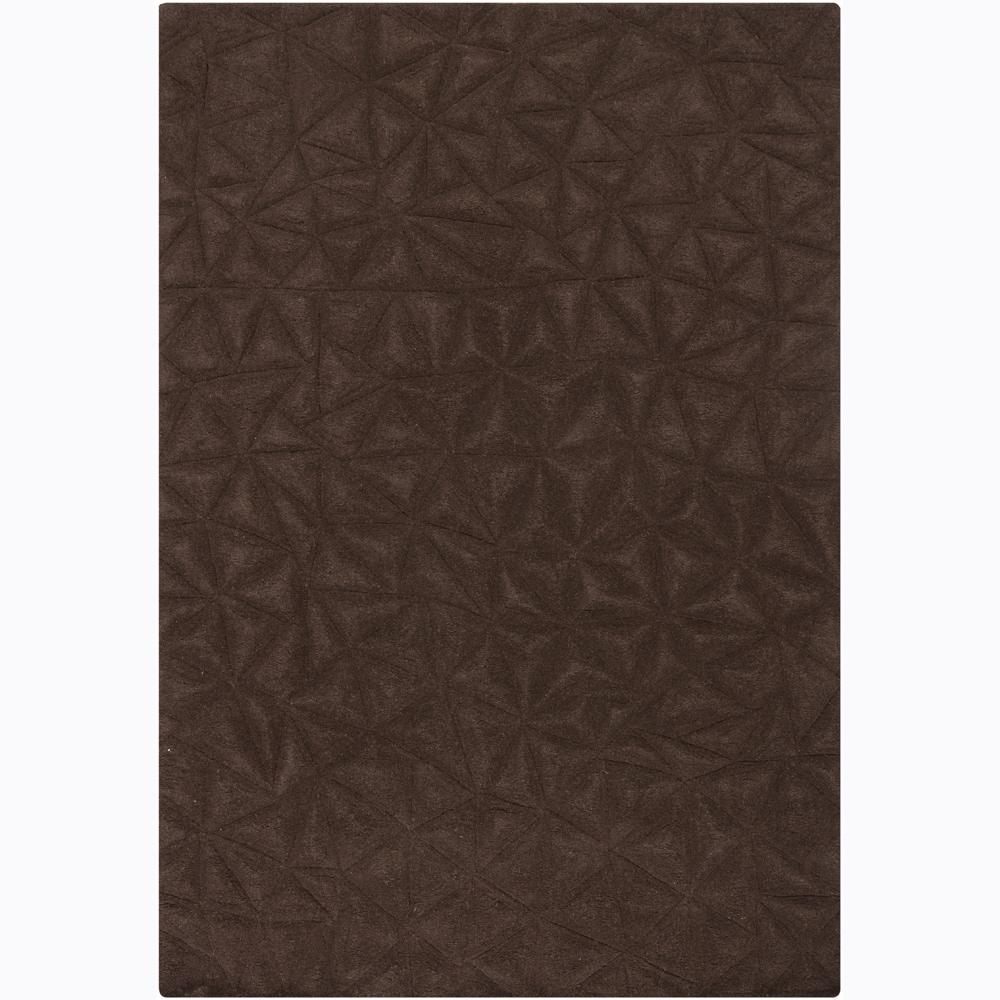 Artist's Loom Hand-tufted Contemporary Geometric Wool Rug - 5'3 x 7'7