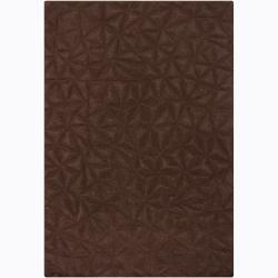 Artist's Loom Hand-tufted Contemporary Geometric Wool Rug - 5'3 x 7'7 - Thumbnail 0