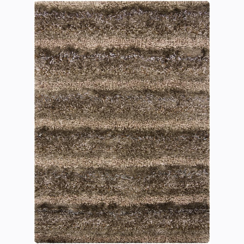 Artist's Loom Hand-woven Shag Rug (3'11 x 5'7) - 3'11 x 5'7
