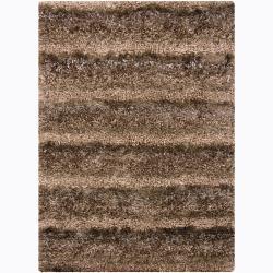 Artist's Loom Hand-woven Shag Rug (3'11 x 5'7) - 3'11 x 5'7 - Thumbnail 0