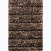 Artist's Loom Hand-woven Shag Rug (3'11 x 5'7)