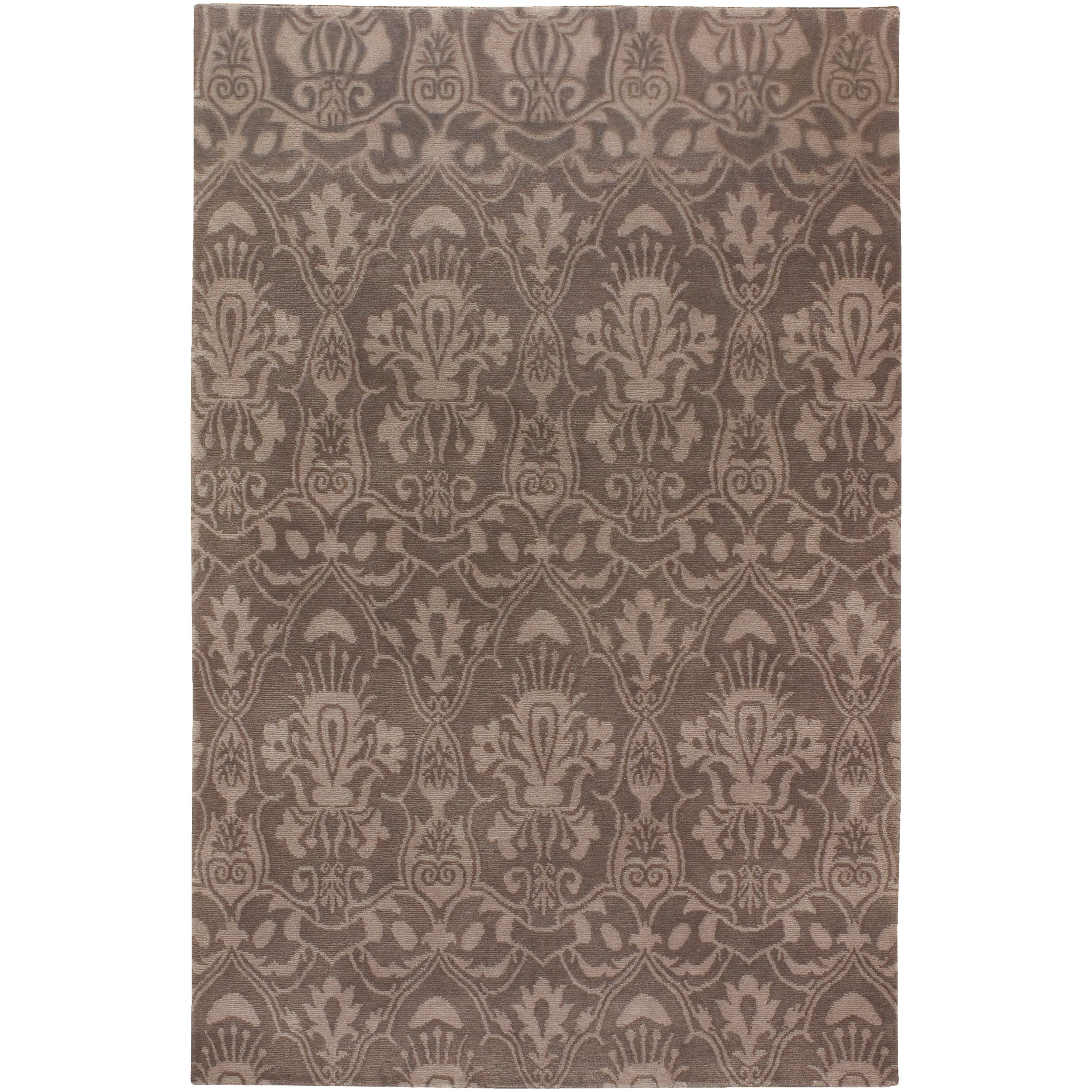 Hand-knotted Lowestoft Hand-carded New Zealand Wool Rug (8' x 11')