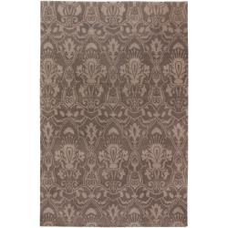 Hand-knotted Lowestoft Hand-carded New Zealand Wool Area Rug (8' x 11') - Thumbnail 0
