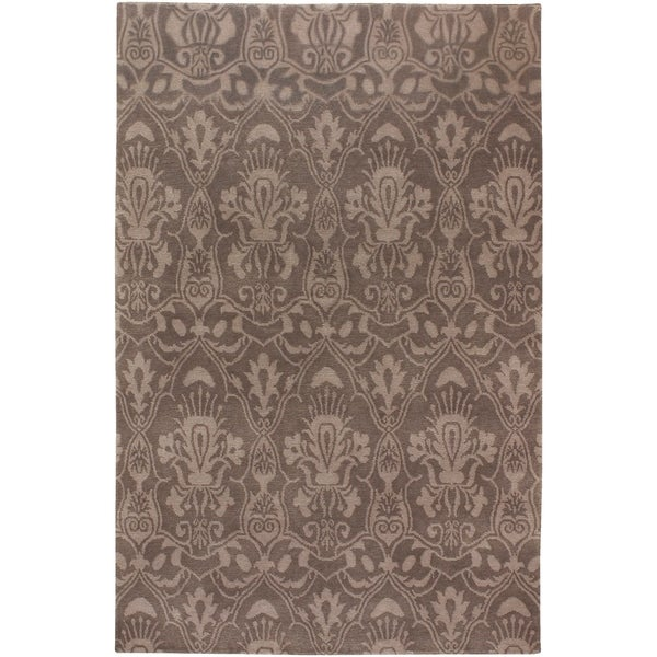 Hand-knotted Lowestoft Hand-carded New Zealand Wool Area Rug - 8' x 11'