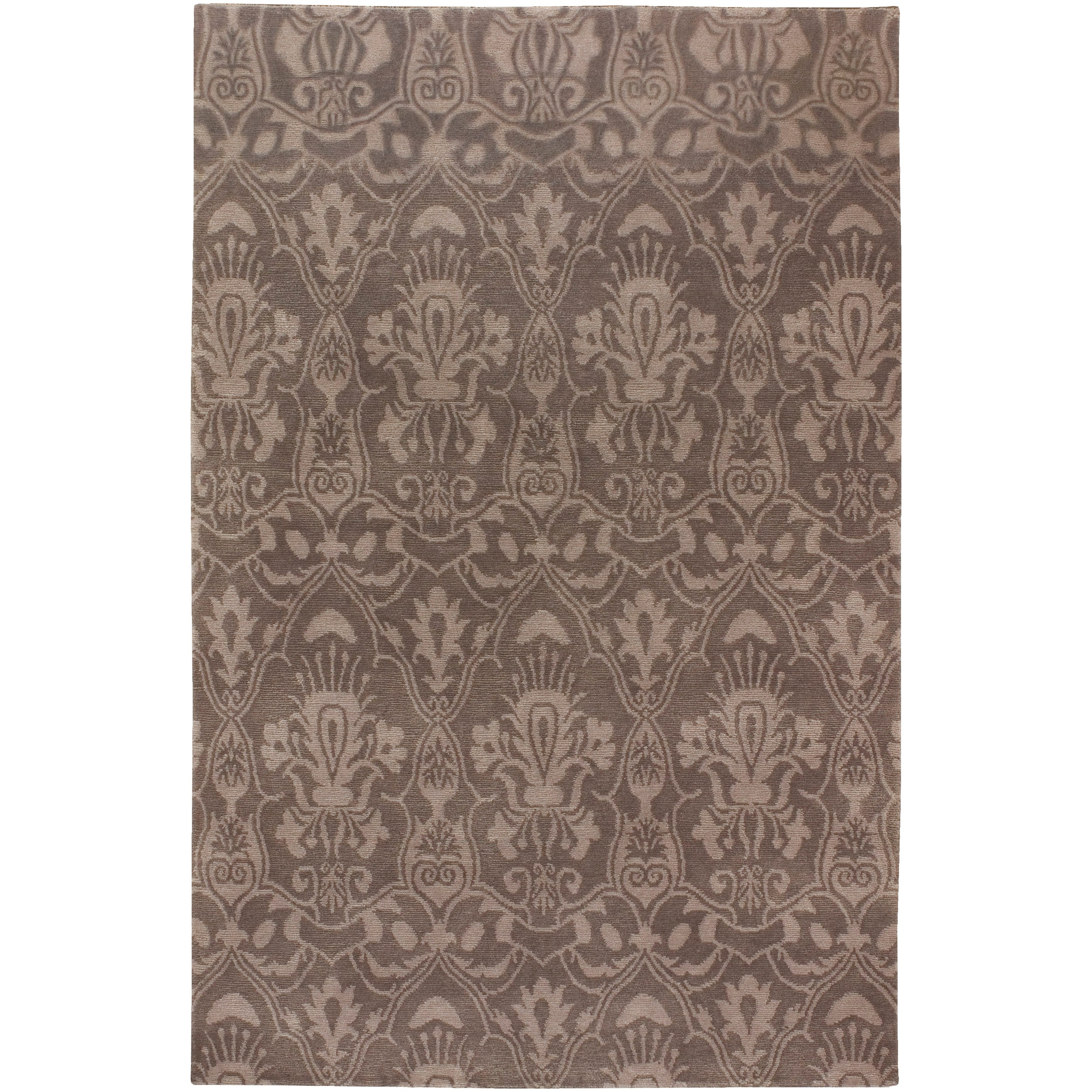 Hand Knotted Lowestoft  Hand Carded New Zealand Wool Rug (9'X13')