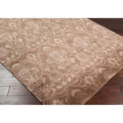 Hand Knotted Lowestoft  Hand Carded New Zealand Wool Rug (9'X13') - Thumbnail 1