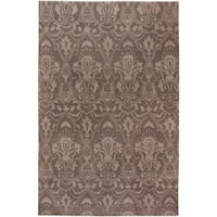 Hand Knotted Lowestoft Hand-carded New Zealand Wool Area Rug - 9' x 13'