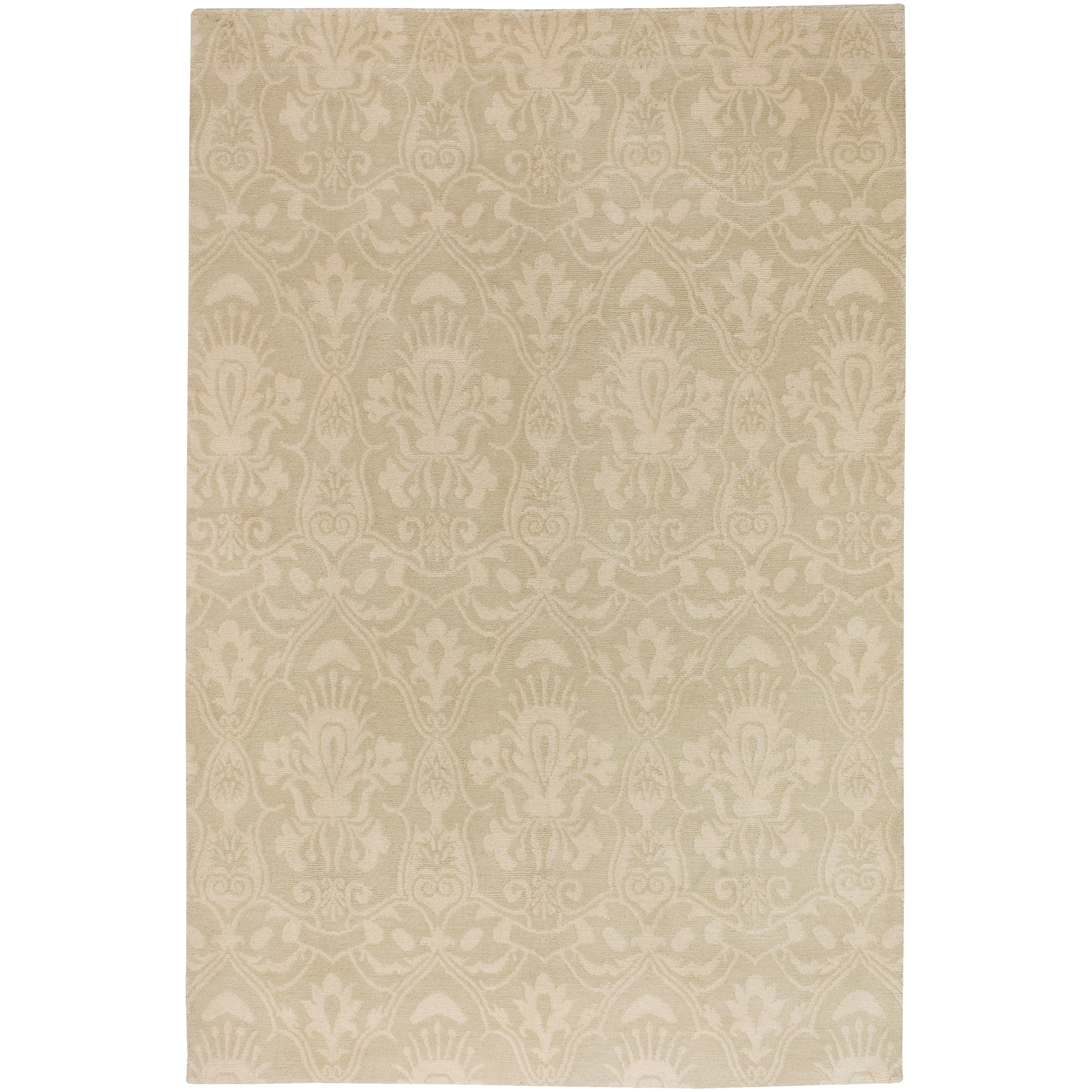 Hand-knotted Ludgershall Hand-carded New Zealand Wool Rug (8' x 11')