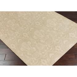 Hand-knotted Ludgershall Hand-carded New Zealand Wool Rug (8' x 11') - Thumbnail 1
