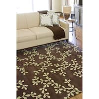 Hand-tufted Alborz New Zealand Wool Area Rug - 9' x 13'