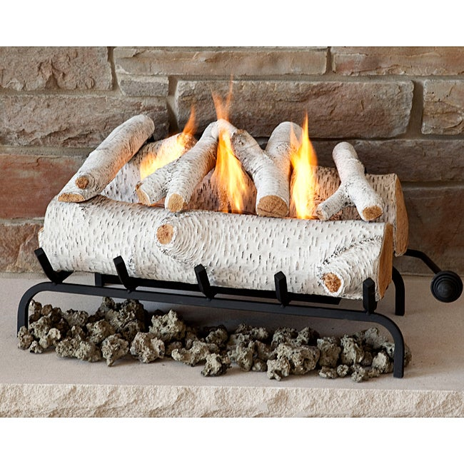 Real Flame Birch 25 in. L x 14.5 in. D x 12 in. H Convert-To-Gel Log Set