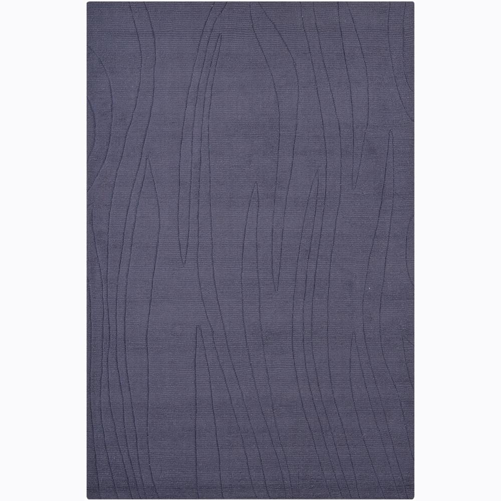 Hand-tufted Mandara Blue Stone Geometric Wool Rug (5' x 7'6)