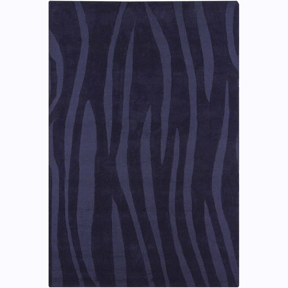 Artist's Loom Hand-tufted Contemporary Geometric Wool Rug - 5' x 7'6