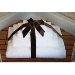 Authentic Hotel and Spa Plush Soft Twist Turkish Cotton White 4-pieceTowel Set with Bath Sheet - Thumbnail 2