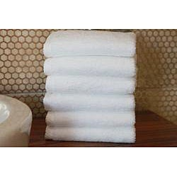 Authentic Hotel and Spa Plush Soft Twist Turkish Cotton White Washcloth (Set of 6) - Thumbnail 1