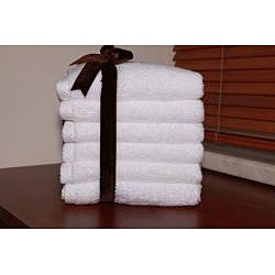 Authentic Hotel and Spa Plush Soft Twist Turkish Cotton White Washcloth (Set of 6) - Thumbnail 2