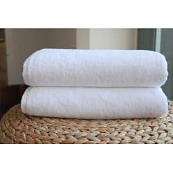 Authentic Hotel and Spa Plush Soft Twist Turkish Cotton Bath Towel (Set of 2) - Thumbnail 1