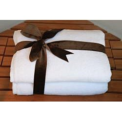 Authentic Hotel and Spa Plush Soft Twist Turkish Cotton Bath Towel (Set of 2) - Thumbnail 2