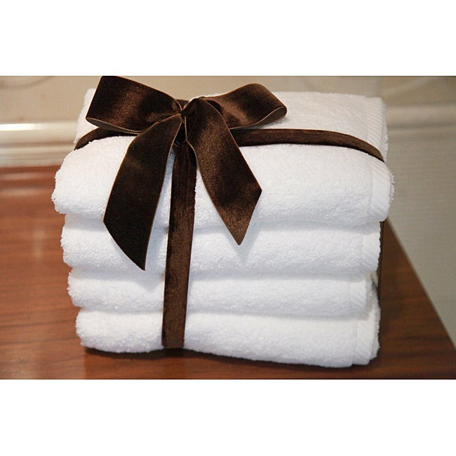 Authentic Hotel and Spa Plush Soft Twist Turkish Cotton Hand Towel (Set of 4)