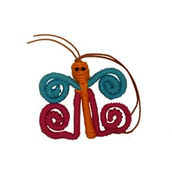 Yarn Butterfly Ornament (Colombia)