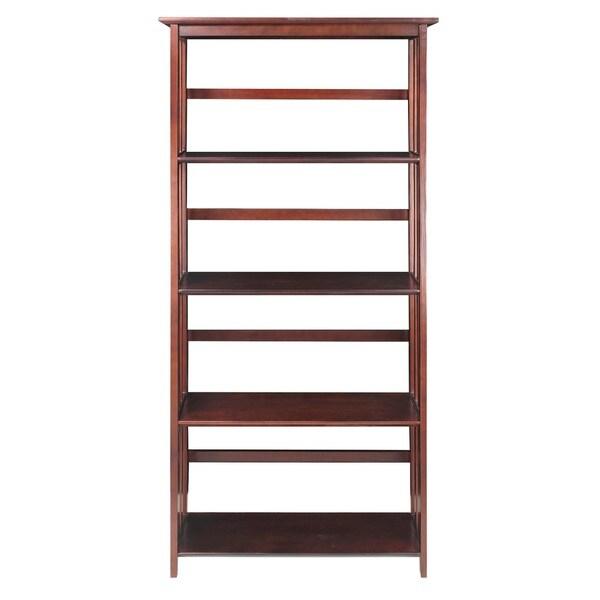 mission style shelf bookcase honey oak folding target 4 tier open cherry