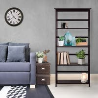 Mission Style Solid Wood 5-shelf Bookcase