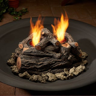 Real Flame 8 in. H x 15 in. W x 10 in. D Gel-burning Outdoor Log Set