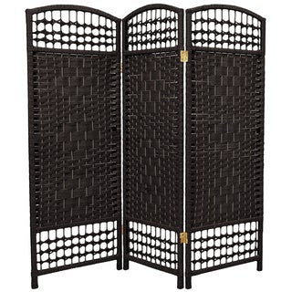 Handmade Fiber Weave 4-foot Room Divider (China)
