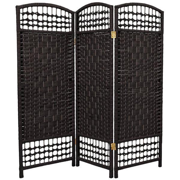 Handmade Fiber Weave 4-foot Room Divider (China)