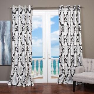 Lambrequin Arabella Flocked Curtain Panel
